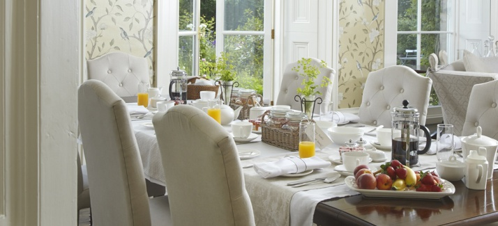 Radford Villa's Breakfast Table - Somerset, England